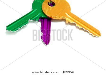 Set Of Colored Keys