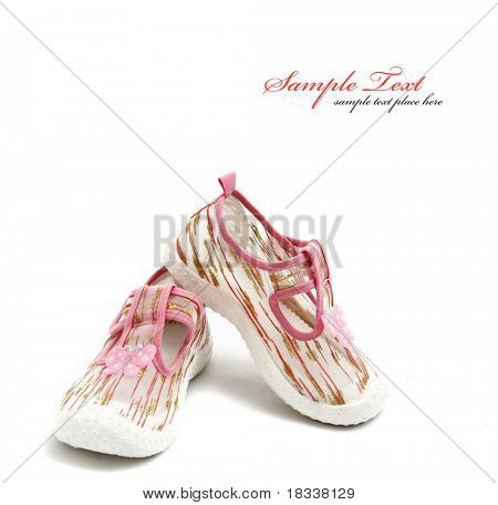 Pink girls shoes
