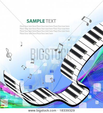 Fondo de la música con notas diferentes