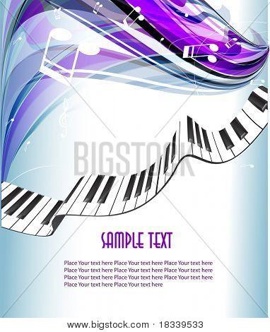 Antecedentes de piano. vector 10 eps.