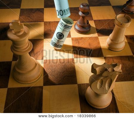 Chess with dollars and euros