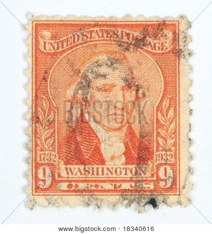 9 Cents Washington Postage Stam[