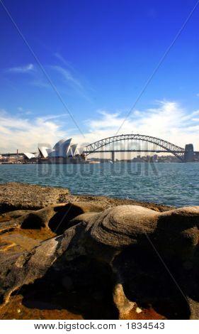 Sydney Opera House And Harbour Bridge..