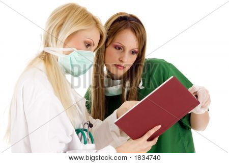 Medical Team - Female Doctor And Nurse