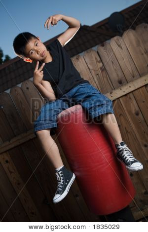 Sitting On A Punching Bag