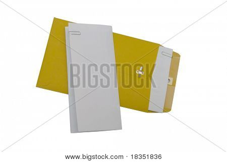 A piece of folded paper concept of letter, deed, will, summons, report