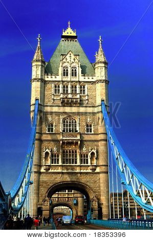 Frontal view of the famous london bridge