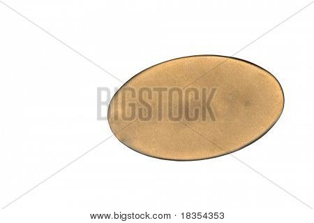 Metallic id tag isolated on white back ground