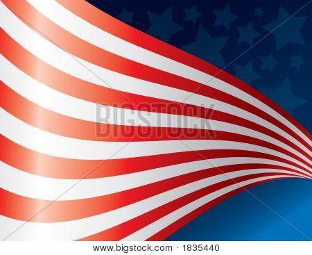 Waving American Flag Art