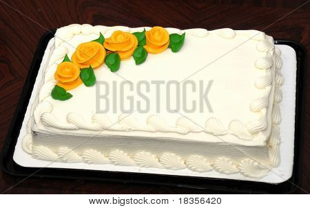 An white creamy cake for all occasions