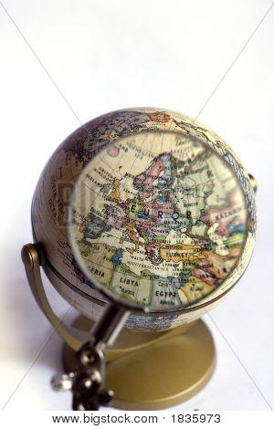 Globe Focus On Europe