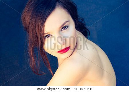 Portrait Of A Sexy Girl With Bright Make Up