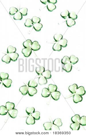 shamrocks background