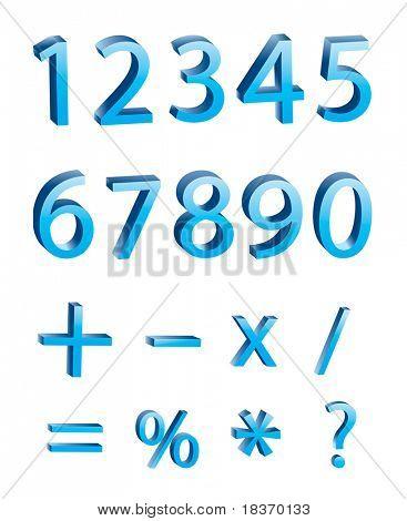3D numeric digits