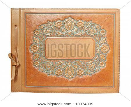 vintage photo album isolated