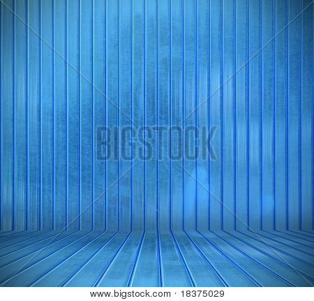 blue plastic interior