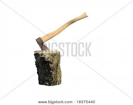 Axt in den Stumpf