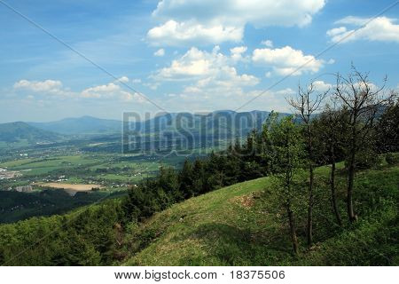 vista mountains - mountains by name Beskydy at middle Europe in Czech republic
