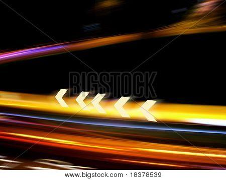 Traffic light in motion