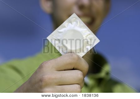 Teen With Condom