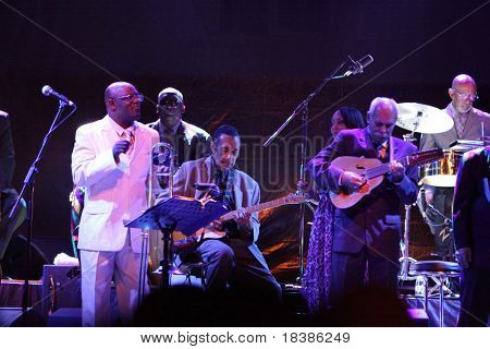 LOULE, PORTUGAL - JUNE 26: Orquestra Buena Vista Social Club performs onstage at Festival Med June 26, 2009 in Loule, Portugal.