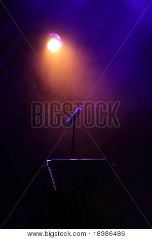 concert stage with mic