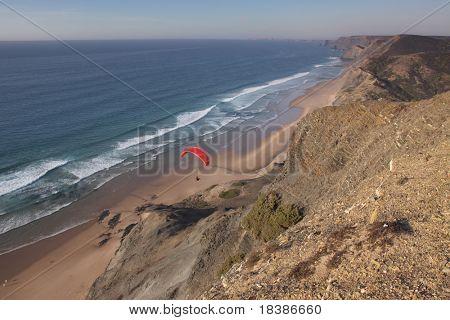 view of the beach coast in Algarve, Portugal - Cordoama and Castelejo beach, near Aljezur