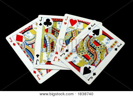Cards. Gambling. Game. Four Jacks/Knaves. Four Suites