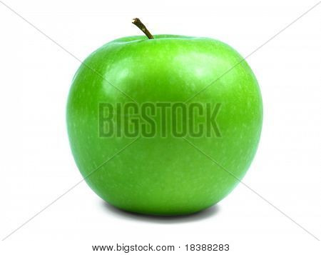 Green apple isolated.
