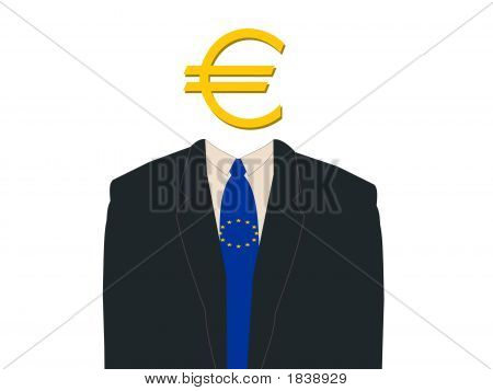 Business Man With Euro