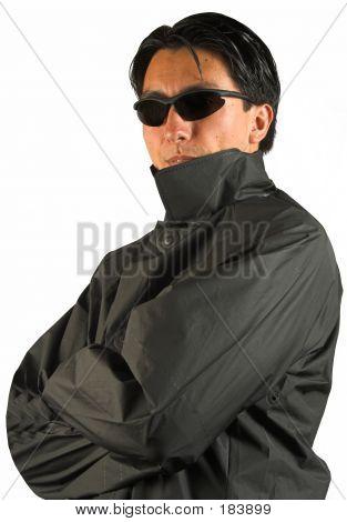 Mann In schwarz