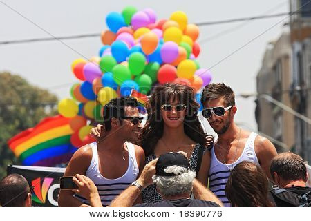 TEL AVIV - JUNE 11: Annual Gay Pride Parade and Week of Proud celebrations on the streets June 11, 2010 in Tel Aviv, Israel.