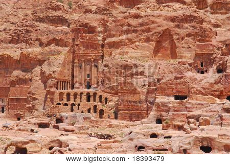 Lost city of world wonder Petra, Jordan