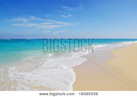 Tropical beach and ocean of Maguana, Cuba