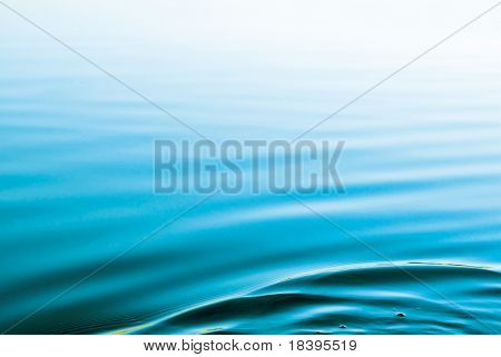 Blue background with water ripples