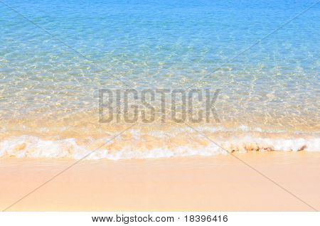 Tropical beach and ocean background australia