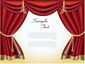 image of curtains stage  - The elegant theater curtain with gold edging - JPG