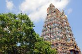 stock photo of meenakshi  - Sri Meenakshi hindu temple in Madurai - JPG