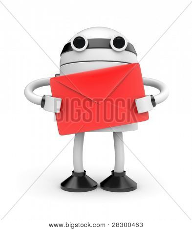 Robot with mail