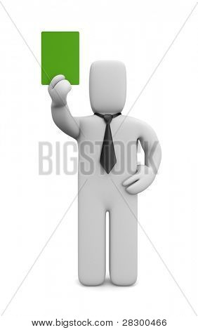Green card for business. Image contain clipping path