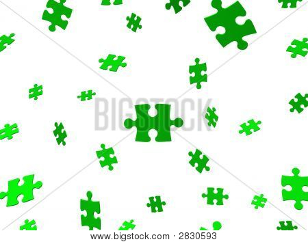 Falling Green Puzzle