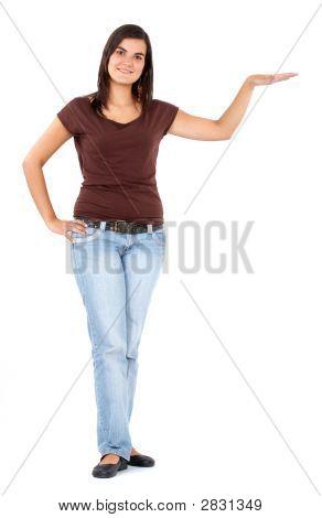 Woman Displaying