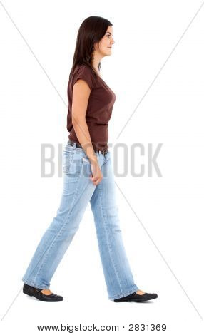 Casual Woman Walking