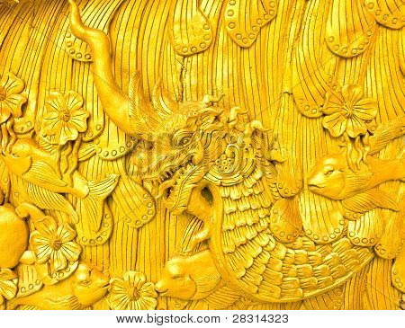 Pattern Of Thai Statue On The