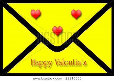 valentines postard ilustration