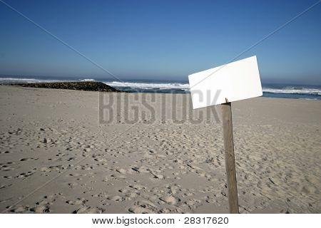 beach publicity in blue sky