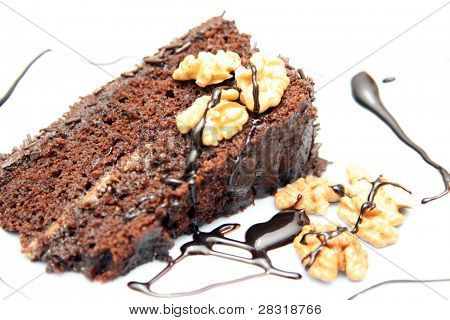 beautiful and delicious chocolate cake