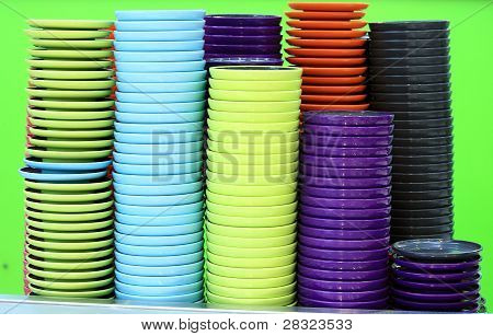 Crockery On A Green Background