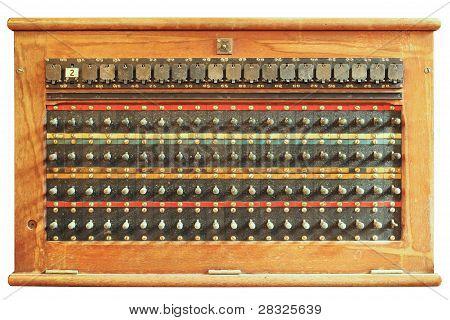 Caixa de menu de controle de telefone vintage