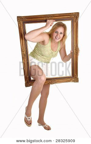 Girl Going Trough Frame.